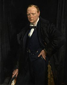 Winston Churchill by William Orpen, 1916,