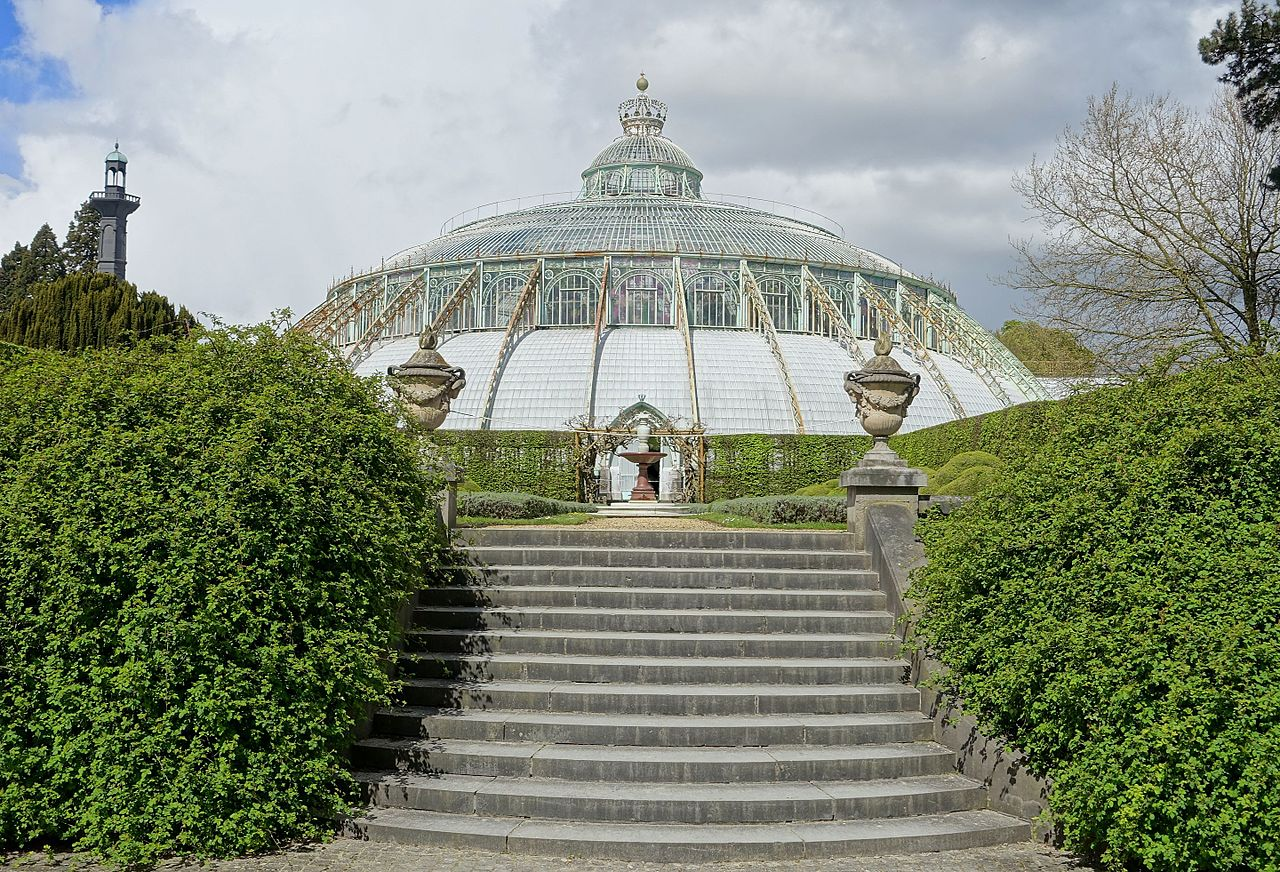 file winter garden with steps royal castle of laeken brussels