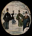 Women in fur capes and hats with feathers in are skating on Wellcome V0040485.jpg