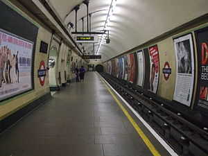 Wood Green tube station - Image: Wood Green stn northbound look south