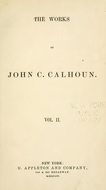 Works of John C. Calhoun, v2.djvu