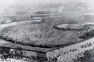 History of the Boston Red Sox - The iconic photo of the Huntington Avenue Grounds before the first modern World Series game in 1903