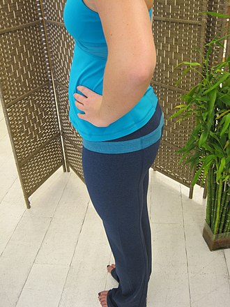 Yoga pants - Low rise, flat seamed, straight-leg cotton yoga pants
