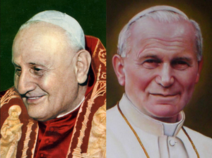 Canonization of Pope John XXIII and Pope John Paul II - Pope John XXIII (left) and Pope John Paul II (right)