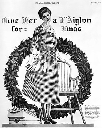 """Xmas - A 1922 advertisement in Ladies' Home Journal: """"Give her a L'Aiglon for Xmas"""""""