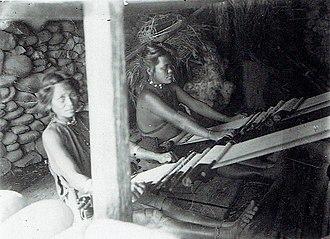 Yami people - Tao women weaving, Orchid Island