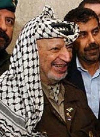 Omar Ali Saifuddien III - Yasser Arafat, the-then chairman of Palestine Liberation Organisation (PLO).