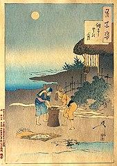 Chofu village moon (Chofu sato no tsuki)