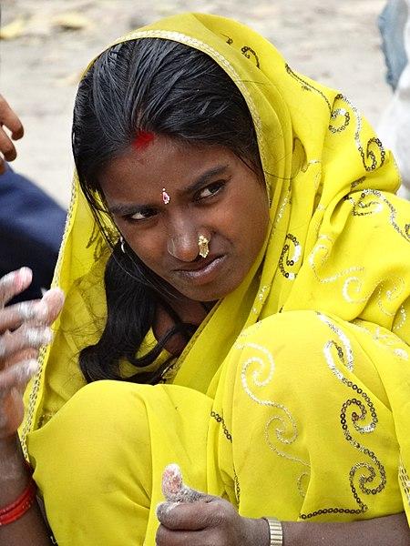 File:Young Woman in Pilgrim's Market - Lumbini Development Zone - Lumbini - Nepal - 01 (13847655243).jpg