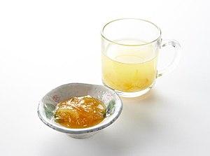 Yuja-cha - Yuja-cha (yuja tea) and yuja-cheong (yuja marmalade)