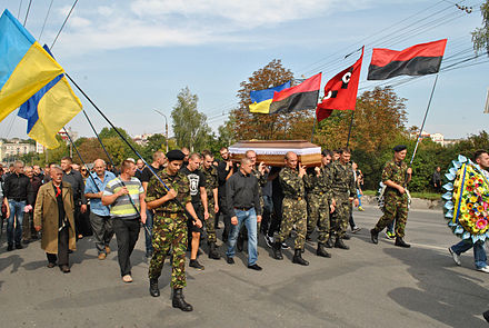 A funeral service for Ukrainian soldier, 11 September 2014 Yurkevych-Andriy-pohoron-5452.jpg