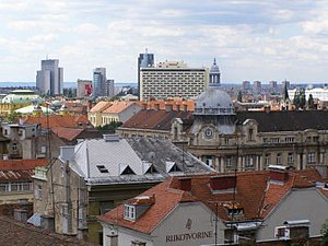 the panorama of Zagreb, Croatia