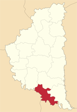 Location of Zaļiščiku rajons