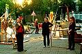 Zinnober Merzbau Merzfest Anmoderation zum Merz-Karaoke durch die Künstlergruppe a7.außeneinsatz aus Hildesheim.jpg