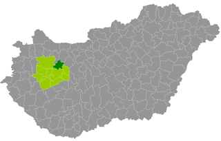 Districts of Hungary in Veszprém