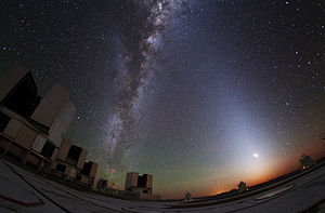 Scattering - Image: Zodiacal Glow Lightens Paranal Sky