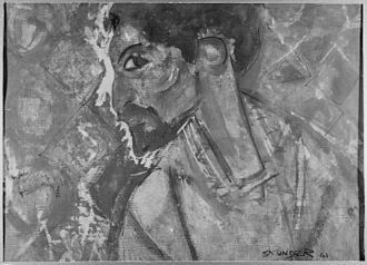 Skunder Boghossian - Self portrait created in 1961