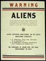 """""""WARNING - ALIENS - ARMY SERVICE FORCES"""". (Provost Marshall General) - NARA - 516037.tif"""