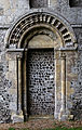 'Berfrestone' (DB) door and arch St Nicholas Church Barfrestone Kent England.jpg