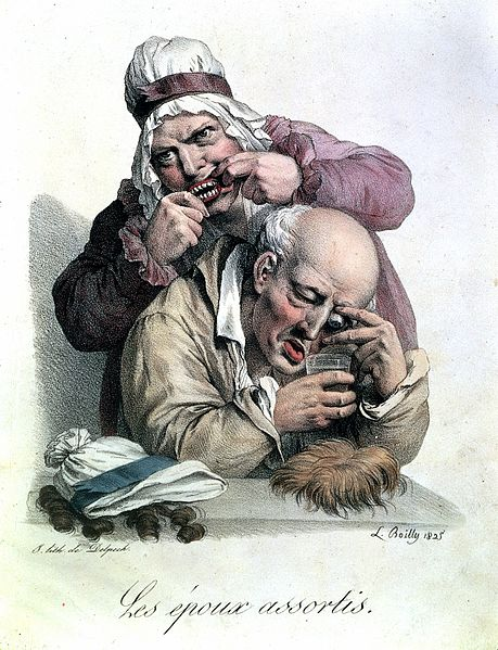 File:'Les epoux assortis', after L.L. Boilly, 1825 Wellcome L0021862.jpg