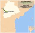 (Bidar - Hyderabad) Intercity Express route map.png