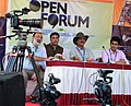 (Left to Right) Anil Jotwni, Vijay Bedi & Mike Pandey along with Gaurav Markan at open forum on Digital Camera, at the 43rd International Film Festival of India (IFFI-2012), in Panaji, Goa on November 25, 2012.jpg