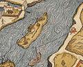 Île Louviers, Plan de Paris vers 1550.jpg