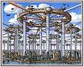 Архитектурная фантазия - Футуристический трансгород-спутник. автор А. Скижали-Вейс.jpg
