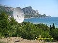 Кацивели. Радиотелескоп и гора Кошка. 06-08-2007г. - panoramio.jpg