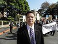 民進黨立委蔡煌榔1月16日在行政院外.jpg