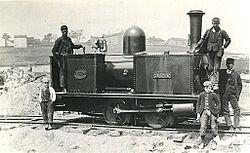 0-4-0 T steam locomotive 'ADA' of W. Bagnall at Cloughbottom Reservoir.jpg