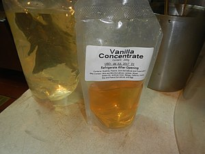 Concentrate - A container of vanilla concentrate