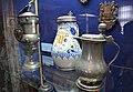 02021 0040 (2) Jugs with lid, Wilkom (1700s), Hutterite faience (1691), tin jug (1780).jpg