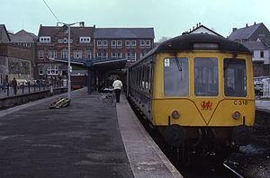 Merthyr Tydfil railway station - The station in 1986.