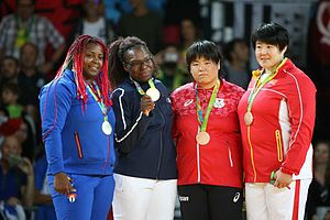 Judo at the 2016 Summer Olympics – Women's +78 kg - Medalists