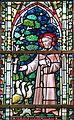 0 Furnes - Vitrail représentant Saint-François - Église Sainte-Walburge.JPG
