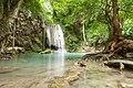 1012 - Erawan Waterfall, 2nd floor, water flows down from the height.jpg