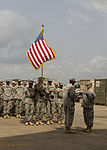 101st STB headquarters cases unit colors in Liberia 150126-A-KO462-139.jpg