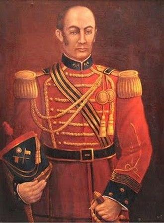 San Pedro de Lloc - Portrait of the hero Jose Andres Rázuri Esteves