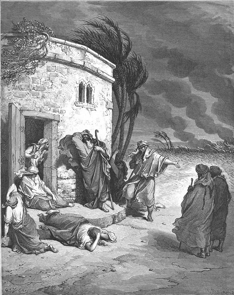 그의 파멸을 듣는 욥 (귀스타브 도레, Gustave Dore, 1866년)