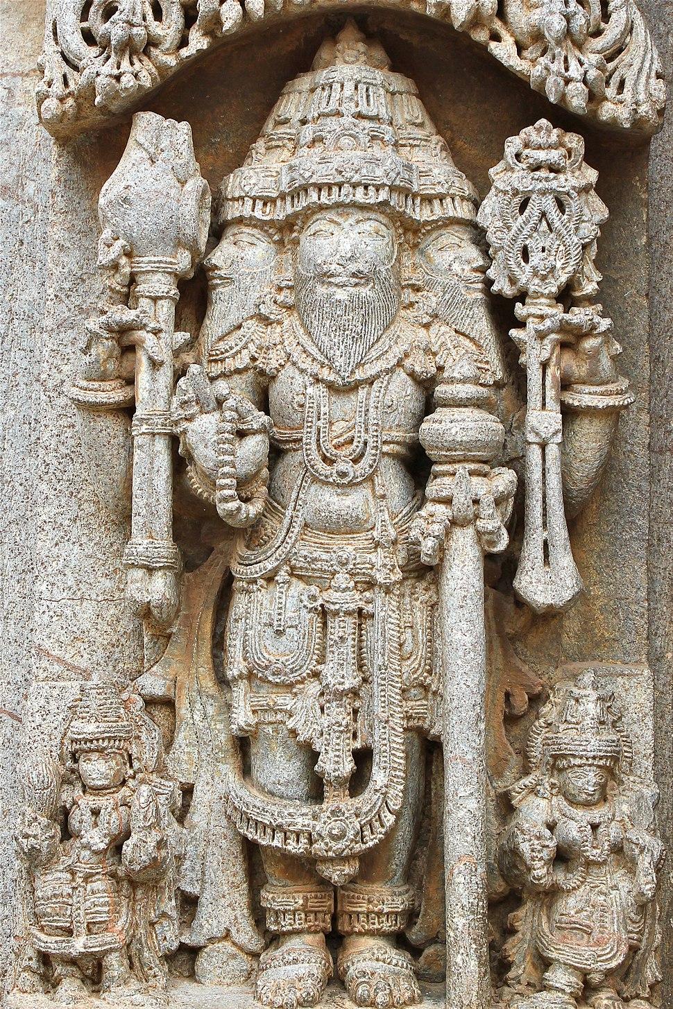 12th century Chennakesava temple at Somanathapura, Karnataka, India Lord Brahma