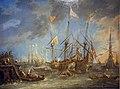 1650 van Eervelt Schiffe auf der Reede Historisches Museum Bamberg anagoria.jpg