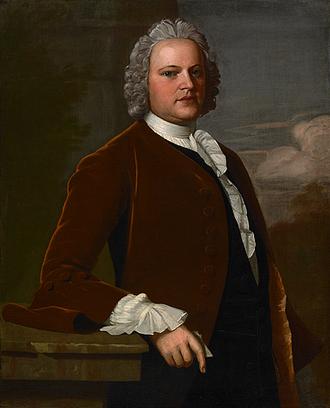 Ralph Inman - Portrait of Ralph Inman by Robert Feke, 1748