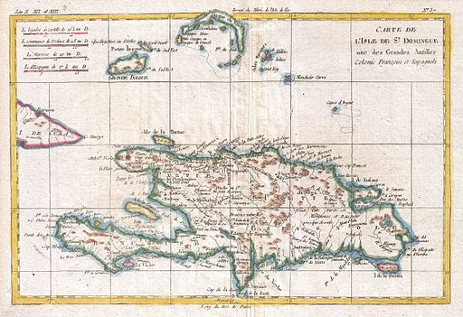 1780 Raynal and Bonne Map of Hispaniola, West Indies - Geographicus - StDomingue-bonne-1780