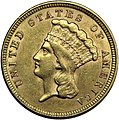 1854 Three-dollar piece obverse.jpg
