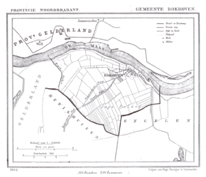 Bokhoven - A map of the municipality Bokhoven in 1865