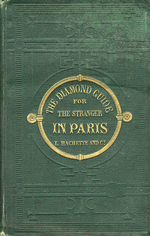 Couverture du Guide Joanne Diamond Guide for the Stranger in Paris, 1867, Paris : Hachette.