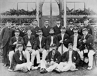 Alick Bannerman - Bannerman pictured 2nd right (back row)with the 1893 Australia national cricket team
