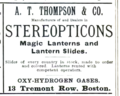 1894 stereopticon advert 13 Tremont Row in Boston USA.png