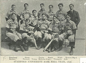 Stanford Cardinal baseball - The Cardinal baseball team of 1896.